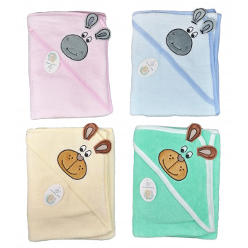 Полотенца махровые (100% хлопок) с уголком для малышей