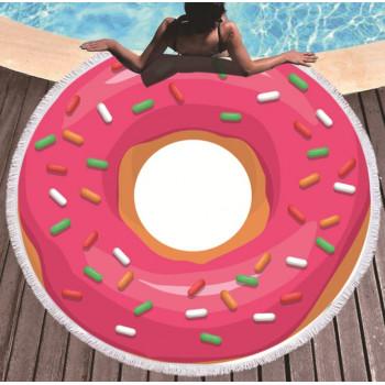 Пляжное круглое покрывало Пончик
