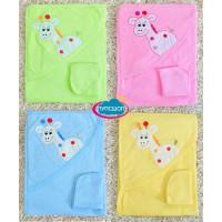 """Махровые полотенца с капюшоном для новорожденных с детским рисунком """"Жираф"""""""