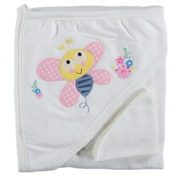 Полотенце уголок для новорожденных девочек Baby Line 80*85 см