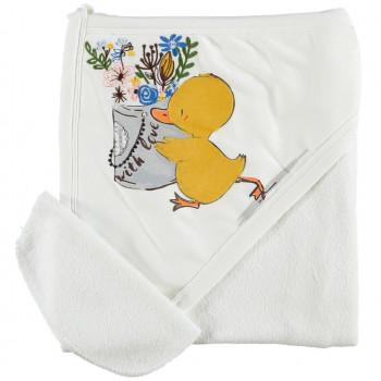 Полотенце Baby Line Цыпленок 80*85 см Уголок Махровое Детское