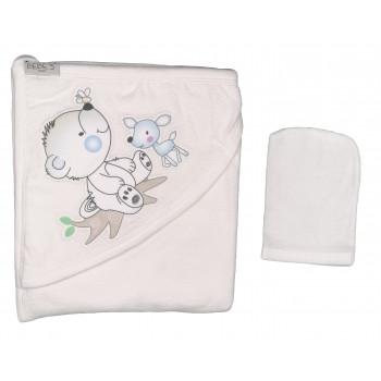 Полотенце махровое детское Bebe`s Молочный Размер 80*80 см