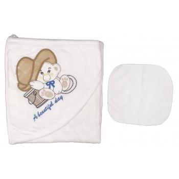 Махровое полотенце с вышивкой детское Baby Line 80*85 см