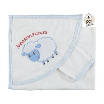 Махровое полотенце Bidilish (Турция) 70*90 см с капюшоном