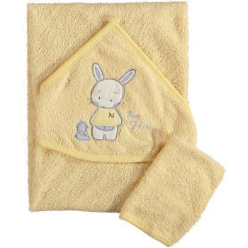 Полотенце махровое Bomdia 80*80 см Уголок Желтое для малышей