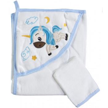 Полотенце 100% хлопок махровое детское Misimosi 80*80 Уголок для мальчиков