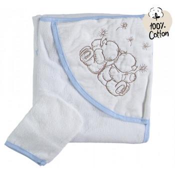 Махровое полотенце Misimosi 80*80 см с капюшоном для детей