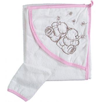 Полотенце уголок 80*80 см махровое Misimosi для ребенка