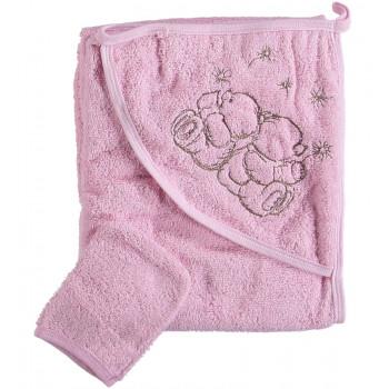 Полотенце 80*80 см с капюшоном махровое Misimosi для девочки
