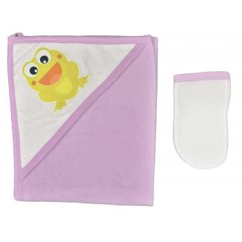 Махровое полотенце Story Baby 70*90 см с уголком для купания