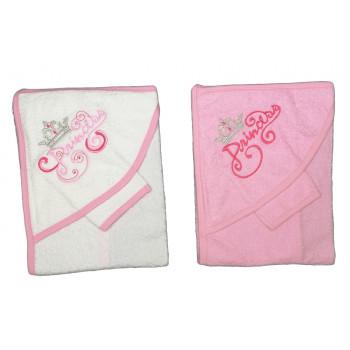 Махровое полотенце для девочек Принцесса Размер 75*80 см