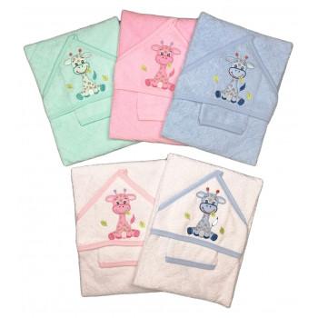 Махровые полотенца с перчаткой ТМ Ramel для новорожденных