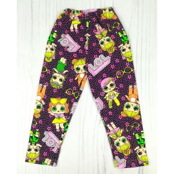 """Фиолетовые лосины """"Лол"""" Размер: 92 (длина 48 см) для девочек"""