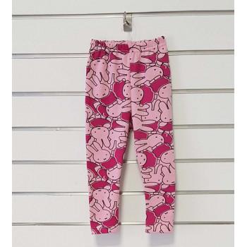 """Теплые (рибана начес) розовые лосины """"Руди"""" для девочек"""