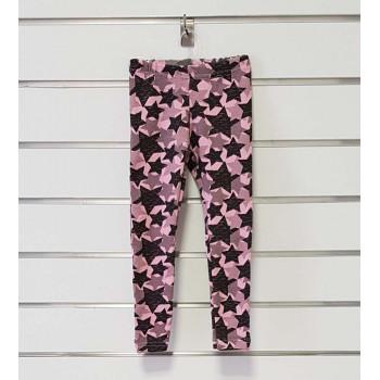 """Теплые (рибана начес) розовые лосины 104 размера """"Звездочка"""" для девочек"""