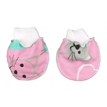 Царапки Розовые Начес новорожденным девочкам