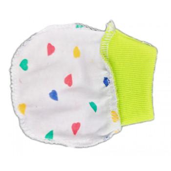 Антицарапки с цветными сердечками для новорожденных
