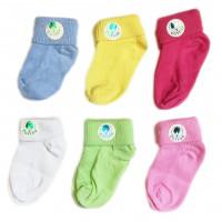 Цветные носочки тонкие для новорожденных. Производитель: Турция