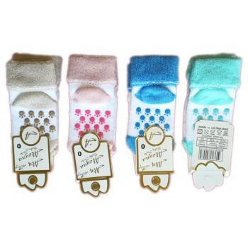 """Теплые махровые носочки """"Лапки"""" для новорожденных (2 Размера ножка 6-8 см см и 8-10 см)"""