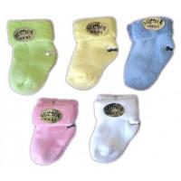 Теплые махровые цветные носочки 0-3 месяца для новорожденных