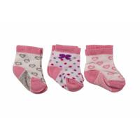 Набор тонких носочков (3 шт) новорожденным девочкам в роддом (3 пары - 33 грн)