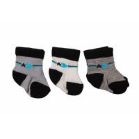 Набор тонких носочков A.D.N (3 шт) новорожденным мальчикам в роддом (3 пары - 33 грн)