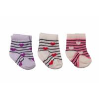 Набор тонких носочков A.D.N (3 шт) новорожденным девочкам в роддом (3 пары - 33 грн)