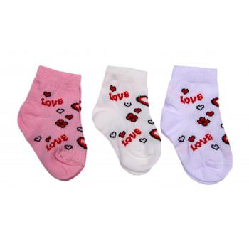 Носочки тонкие Love для новорожденных девочек