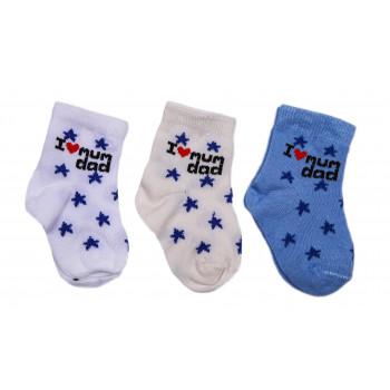 """Носки """"I love mum, dad"""" Тонкие для новорожденных мальчиков"""