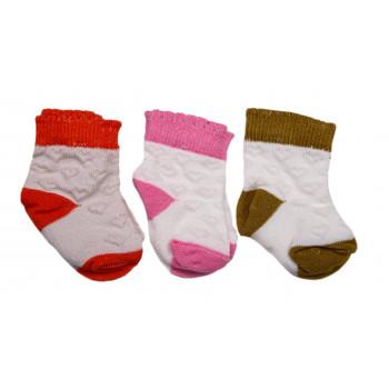 Набор носочков 3 пары для новорожденной девочке в роддом