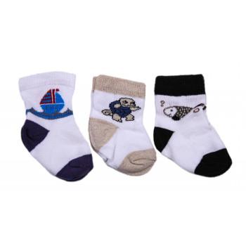 Набор носочков для новорожденного мальчика в роддом (3 пары - 41 грн)