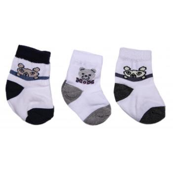 Набор носочков Мишка для новорожденного мальчика в роддом (3 пары - 41 грн)
