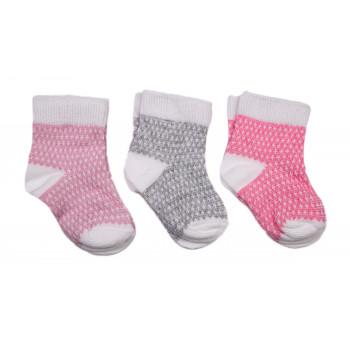 Набор носочков Рябчик 3 пары для новорожденной девочке в роддом