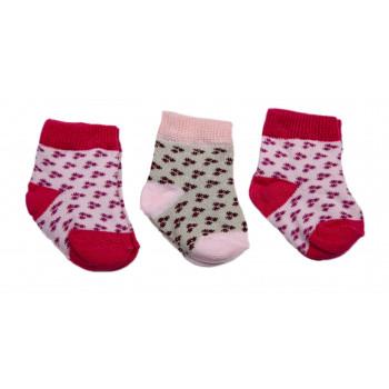 Набор носочков для новорожденной девочке в роддом (3 пары - 41 грн)