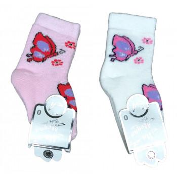 Теплые носочки для девочек размеры от 0 до 3 лет Бабочка