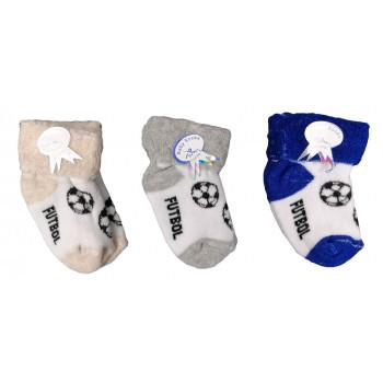 Махровый футбольные носочки в роддом для малыша
