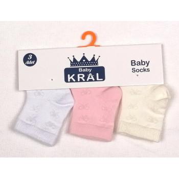 Набор носочков для новорожденных девочек (Цена за 3 шт)