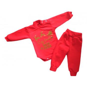 """Новогодний красный комплект одежды """"New Year"""" для малышей"""