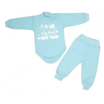 Теплый новогодний набор одежды для мальчиков