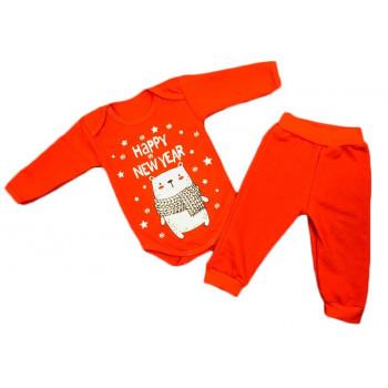 """Теплые боди и штаны """"Счастливого Нового Года"""" для малышей"""