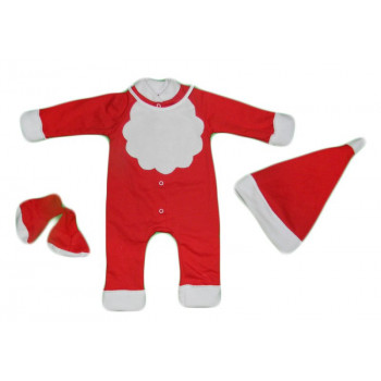 Теплый новогодний костюм из 4-х предметов для малышей