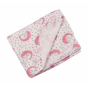 Байковая пеленка 90*100 см для новорожденной девочке