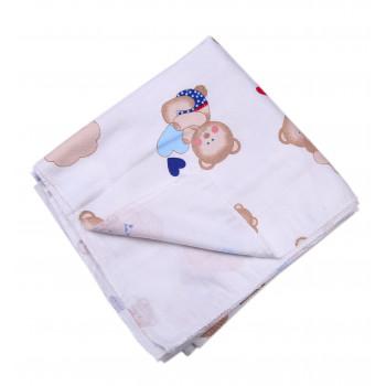 Детская байковая пеленка 90*110 см