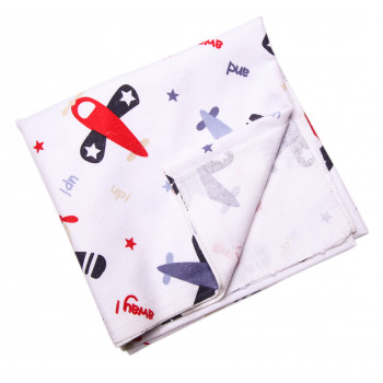 Байковая пеленка Самолетики 90*100 см для новорожденного мальчика
