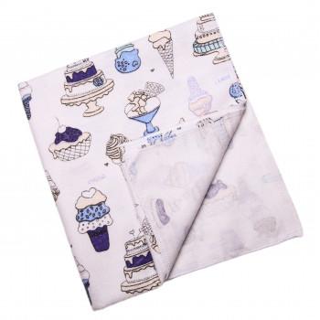 Байковая пеленка Сладости 90*100 см для новорожденных