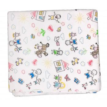 Фланелевые пеленки размер 90*100 см с детскими рисунками