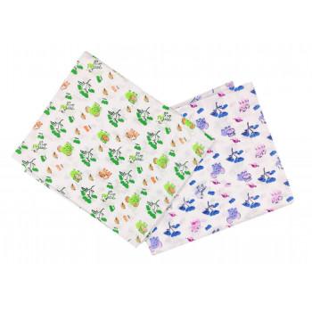 Ситцевые пеленки 90*100 см для новорожденных в роддом Слоник