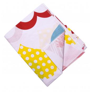 Пеленка с разноцветными сердечками Ситцевая 90*110 см для новорожденных
