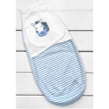 Пеленка кокон на липучке для новорожденного мальчика