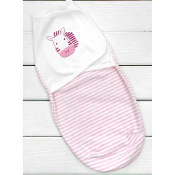 Пеленка кокон на липучках новорожденным девочкам
